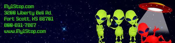 My1Stop.com Alien Adbustion Day
