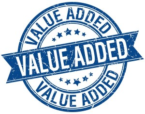 value added sticker